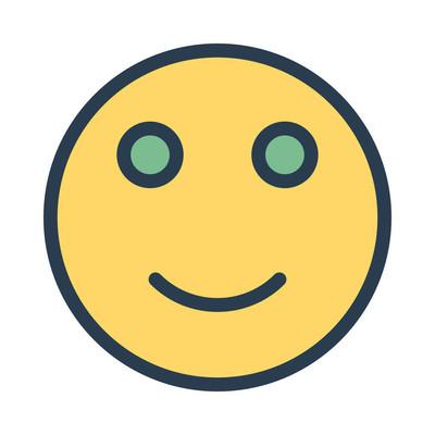 微笑图标矢量图
