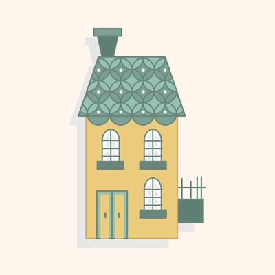 建筑房子主题元素 eps