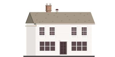 房子外部背景矢量图