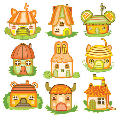 Animal houses (vector illustration)