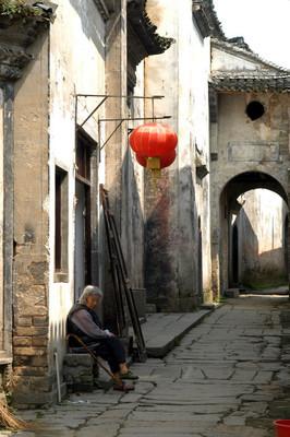 中国安徽省的古村落琴坎