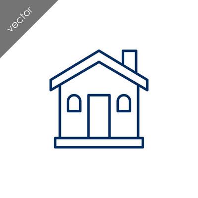 房屋平面图标,矢量图