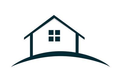 房屋标志矢量图