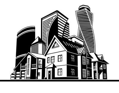 别墅和摩天大楼