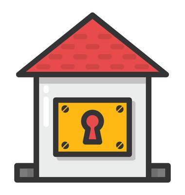 房屋安全矢量图标