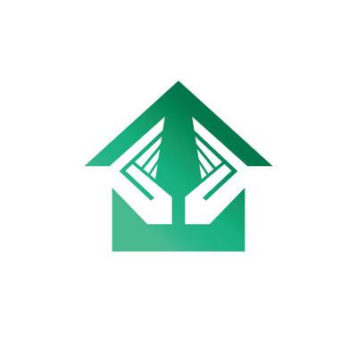 房屋安全服务标志。矢量徽标模板