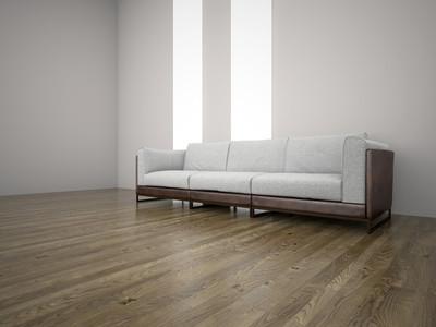在房间 3d 渲染的沙发