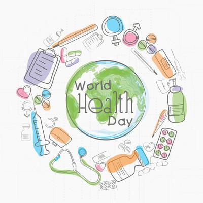 世界卫生日医疗对象地球仪