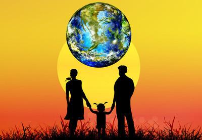 快乐家庭和地球的星球 earth.earth 的一天