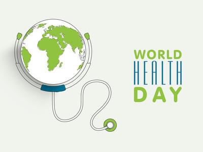 世界卫生日概念与地球