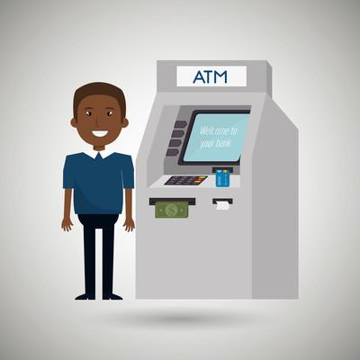 男子 atm 货币信用