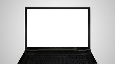 笔记本电脑的显示器显示白屏