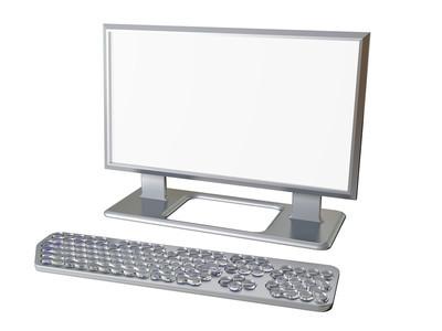 显示器屏幕与键盘