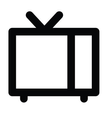 老式电视粗线图标
