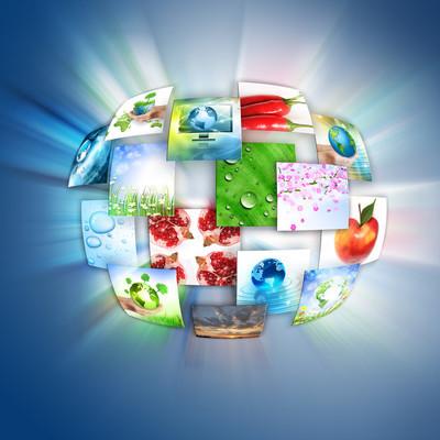 电视和互联网的生产技术概念
