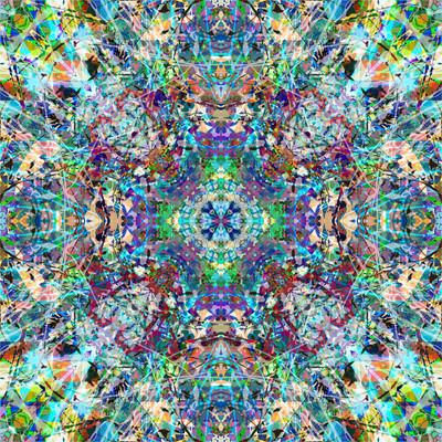 抽象炫彩花纹