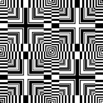 无缝欧普图案。抽象几何设计