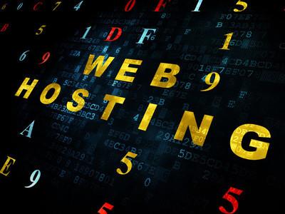 Web 开发的概念: 数字背景网页寄存