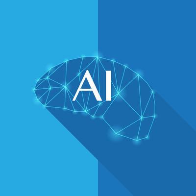 Ai 大脑标志和符号