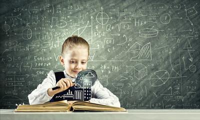 女孩发现世界的知识