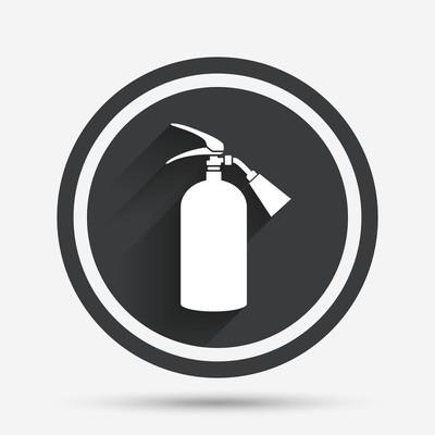 灭火器标志图标。消防安全标志