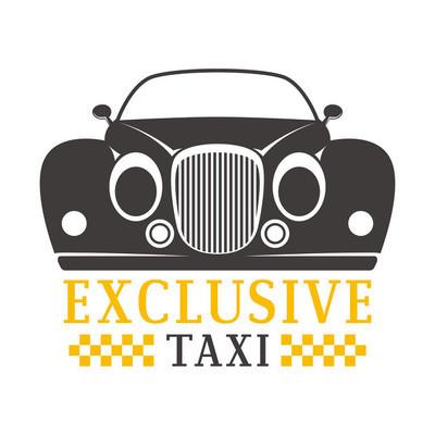 出租车徽章矢量图