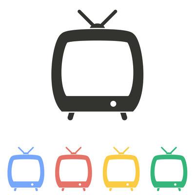 TV  - vector icon.