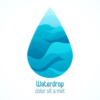 水滴抽象创意 logo
