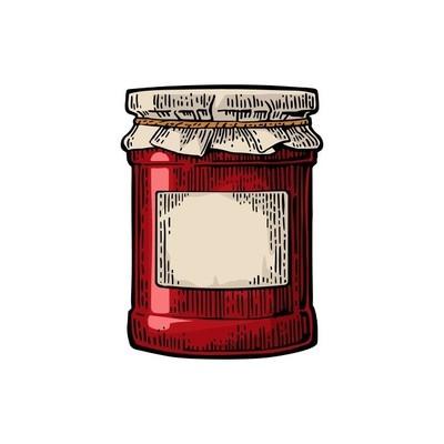 玻璃罐果酱和包装用纸