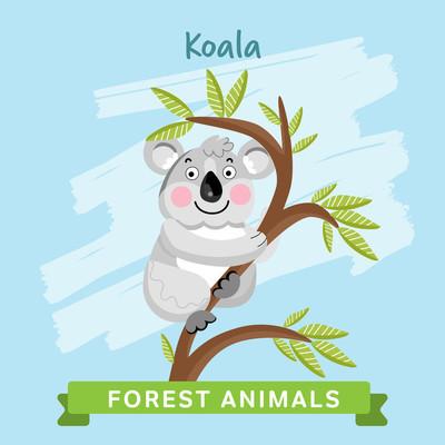 森林动物考拉矢量