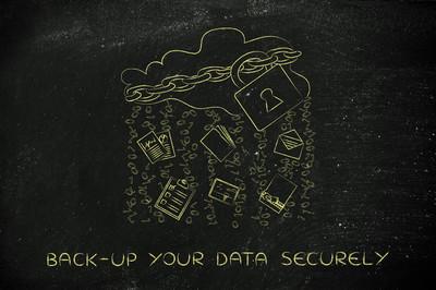 概念的备份您的数据安全
