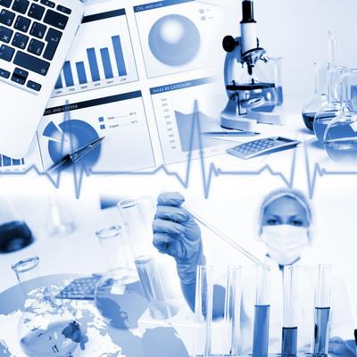 医学科学和商业的拼贴画