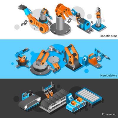 Industrial robot banner set