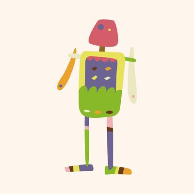 机器人主题元素矢量、 eps