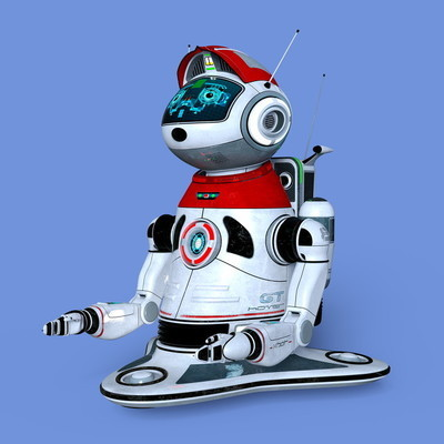 3d cg 渲染的机器人