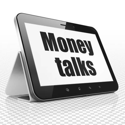 财务理念︰ 平板电脑与金钱万能展出