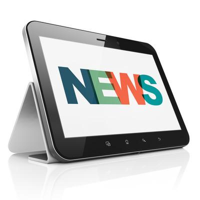 News concept: Tablet Computer with News on  display