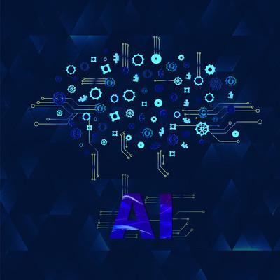 人工智能横幅装饰。Ai 概念。矢量插图