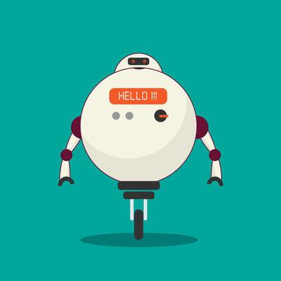 人工智能插图的现代机器人