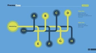 双流程图计划幻灯片模板