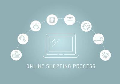 在线购物流程图表