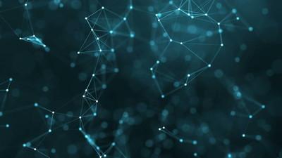 4 k 抽象的未来科技背景的线条和点
