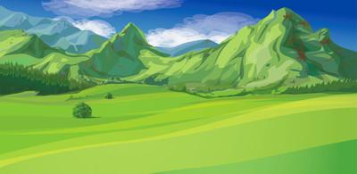 向量的山风景