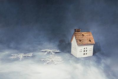 圣诞快乐的形象。抽象假日图片与一些圣诞节装饰