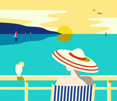 夏季假期海报
