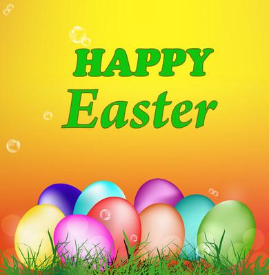 复活节 eggs.holiday.easter.vector