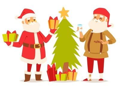 圣诞圣诞老人矢量图