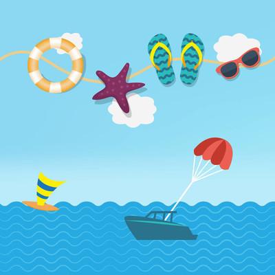 Flat design travel icon summer holidays