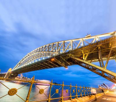 悉尼港湾大桥,澳大利亚的惊人广角夜景
