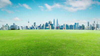 绿草和市中心